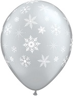 "16"" Snowflakes Sparkles Around Silver  (50 Count)"