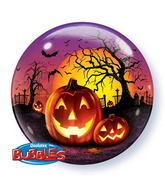"22"" Haunted Halloween Jack Bubble Balloons"