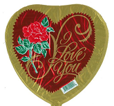 "9"" Airfill I Love You Classic Rose"