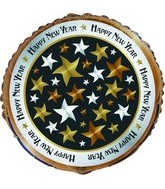 "18"" New Years Stars Balloon"