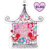 "28"" SuperShape Happy Valentine&#39s Day Bird Cage"