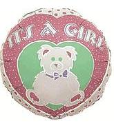 "4"" Airfill Only Balloon It&#39s A Girl Bear"
