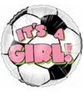 "4"" Airfill It&#39s a Girl Soccer Ball"