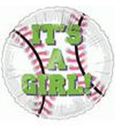 "4"" Airfill It&#39s a Girl Baseball M342"