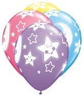 "11"" Printed Latex Balloons Baby Moon & Stars"