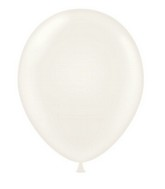 "24"" Round White Latex Balloons 5 Count"