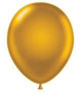 "24"" Round Gold Latex Balloons 5 Count"