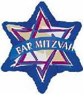 "18"" Bar Mitzvah Star of David"