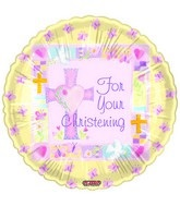 "18"" For Your Christening Pink"