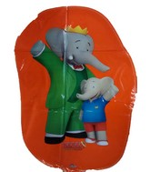 "27"" Jumbo Babar and Badou Orange Mylar Balloon"