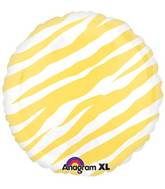 "18"" Yellow Zebra Stripes Print"