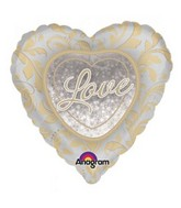"32"" Gold & Silver Anniversary Jumbo Holographic"
