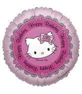 "18"" Charmy Kitty Happy Birthday Foil Balloon"