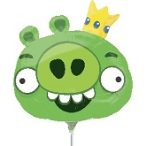 "14"" Airfill Only Angry Birds King Pig Balloon"