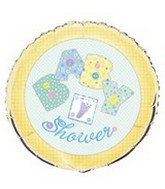 "18"" Baby Yellow Stitching Baby Shower Balloon"