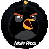 "18"" Angry Birds Black Bird Mylar Balloon"
