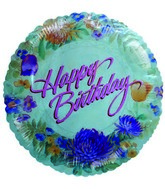 "9"" Airfill Happy Birthday Kamiko Floral Balloon"