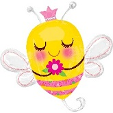 "33"" SuperShape Queen Bee Balloon Packaged"