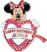 "24"" Minnie Mouse HBD Personalize Jumbo Balloon with stickers"