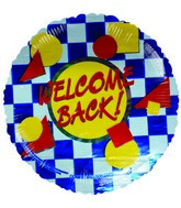 "4"" Airfill Welcome Back Checks  Balloon"