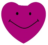 "4"" Airfill Fuchsia Smiley Face Heart Balloons"