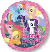 "18"" Happy Birthday My Little Pony Balloon"