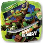 "18"" Happy Birthday Teenage Mutant Ninja Turtles"