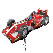 "38"" Red Formula 1 Race Car Balloon"