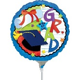 "9"" Aifill Only Grad Balloon (WITHOUT STICK)"