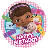 "18"" Doc McStuffins  Happy Birthday Balloon"