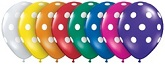 "11"" Jewel Polka Dots Latex Assortment Balloons 50 Count"