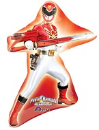 "32"" Red Power Ranger Mega Force Jumbo Balloon"