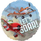 "26"" Disney Planes Let&#39s Soar Clear Balloon"