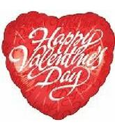 "18"" Happy Valentine&#39s Day Script Red"