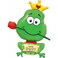 "39"" Frog Kiss Me Princess Balloon"