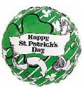 St. Patricks Day Mylar Balloon