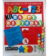 "18"" Happy Birthday ABC-123 Mulit-Coloured"