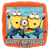 "18"" Despicable Me Happy Birthday  Balloon"