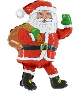 "14"" Airfill Only Santa Claus Shaped Mylar Balloon"