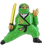 "27"" Green Ninja Jumbo Balloon"