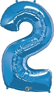 "43"" Jumbo Number Balloon Two Sapphire Blue"