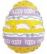 "4"" Happy Easter Hopping Rabbits"