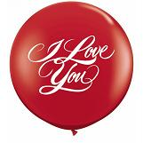 3&#39 I Love You Script Ruby Red (Round) (2 ct.)