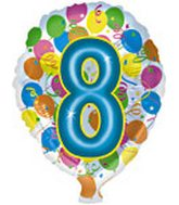 "18"" Number Balloon Shaped ""8"""