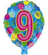 "18"" Number Balloon Shaped ""9"""