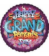 "9"" Airfill Happy GrandParents Day Holographic Balloon"