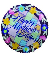 "9"" Airfill Happy Mothers Day Tulips Purple Balloon"