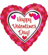 "18"" Happy Valentine&#39s Day Balloon Hearts"