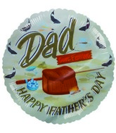 "9""  Airfill Dad Gone Fishing Fathers Day Balloon"