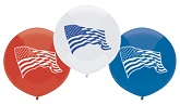 "17"" Outdoor  Balloons (50 Count) Flag Assortment"